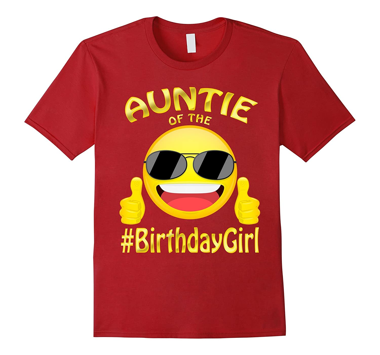 Auntie Of The Birthday Boy Emoji T-Shirt for cute Aunt-Art