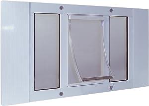 Ideal Pet Products Aluminum Sash Window Pet Door, Adjustable to Fit Window Widths from 23