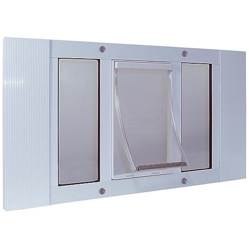 temporary dog door for swinging door