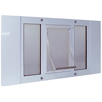 Ideal Pet Products 33SWDXL Aluminum Sash Window Pet Door, X Large/10.5u0026quot;