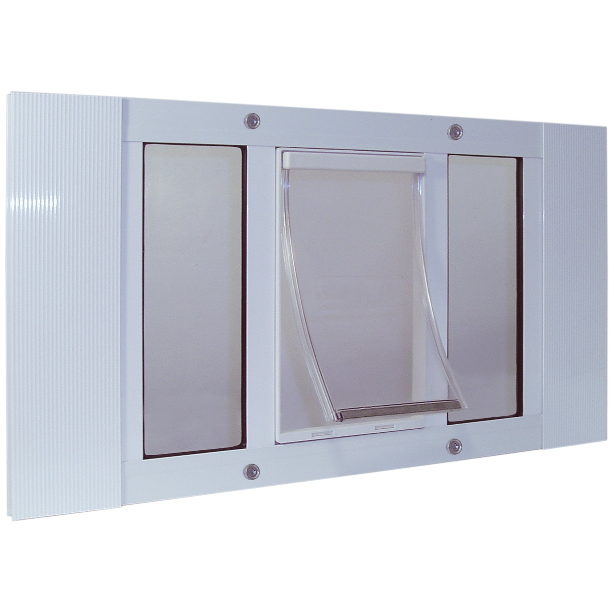 Ideal Pet Products 33SWDM Aluminum Sash Window Pet Door, Medium/7'' x 11.25'', White