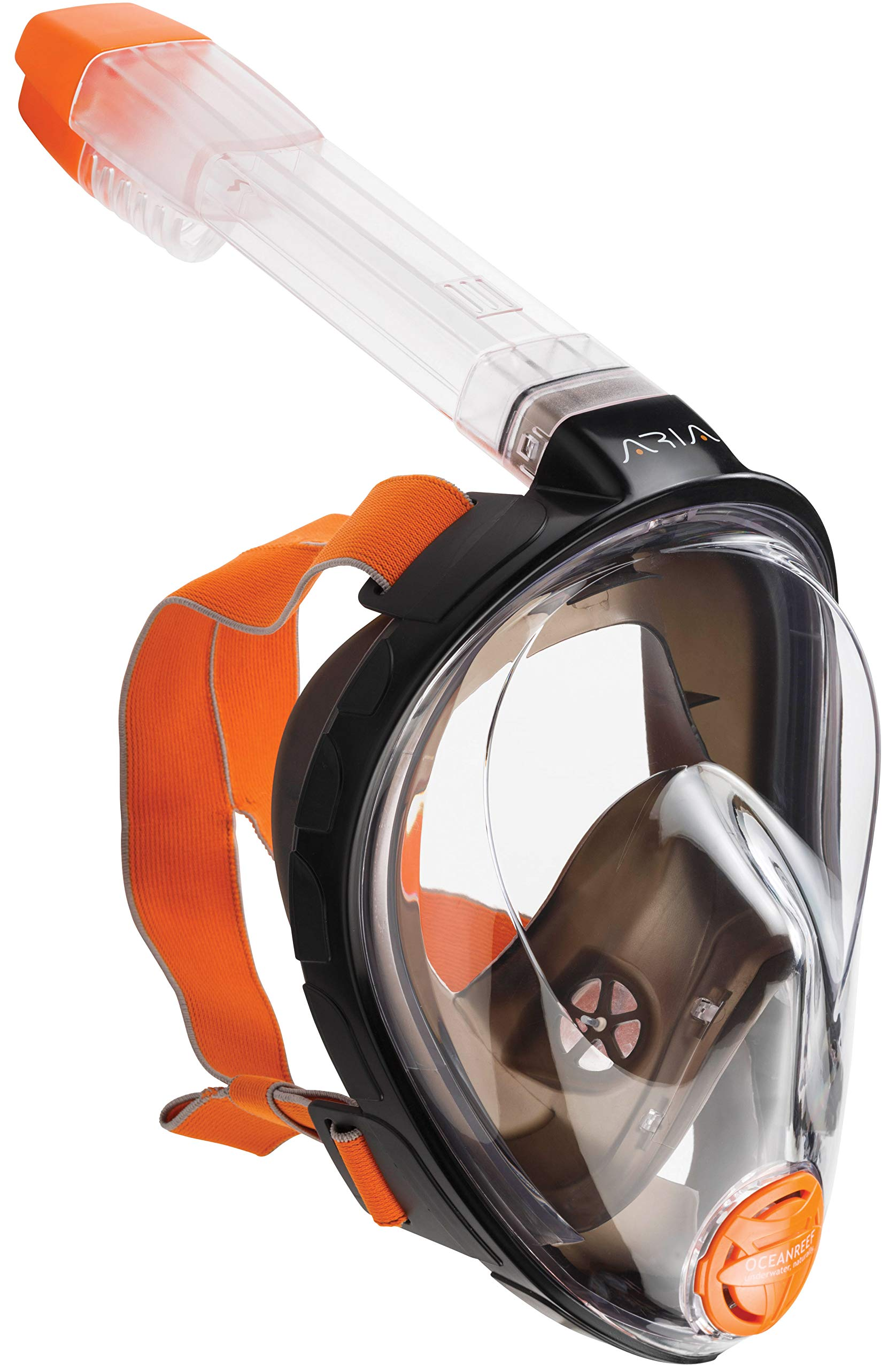 Ocean Reef Aria Full Face Snorkel Mask (Black, Large / Extra Large) by Ocean Reef