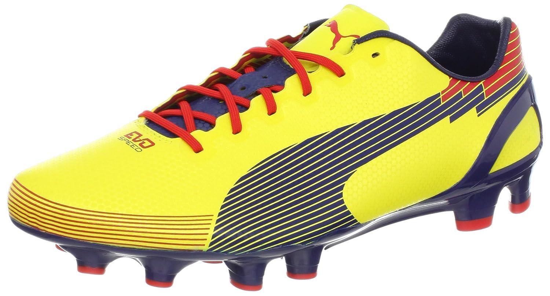 プーマメンズEvospeed 1グラフィックFG Soccer Cleat B009YTOP0YBlazing Yellow/Medival Blue 10 D(M) US