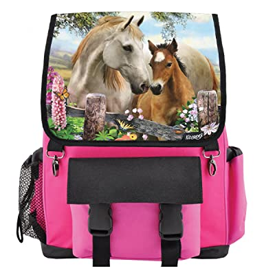 hot sale Summer Meadow Horses School Backpack for Girls, Boys, Kids