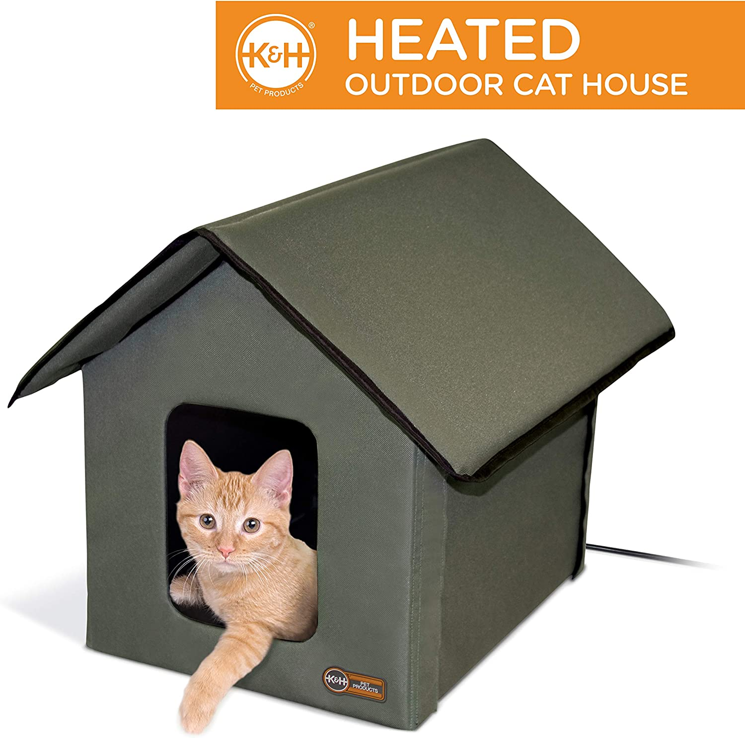 1. K&H Pet Products Outdoor Heated Kitty House