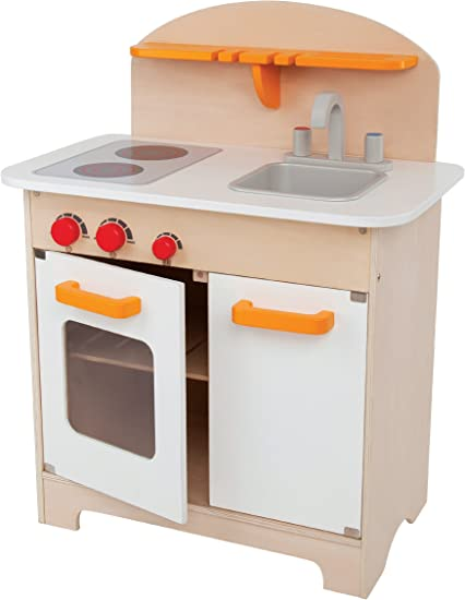 Hape Gourmet Kitchen Kid\'s Wooden Play Kitchen in White