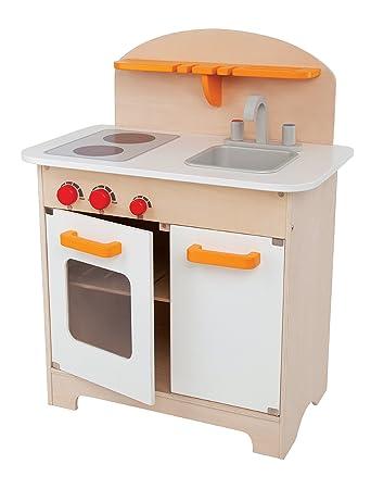 Hape Gourmet Kitchen Kidu0027s Wooden Play Kitchen In White