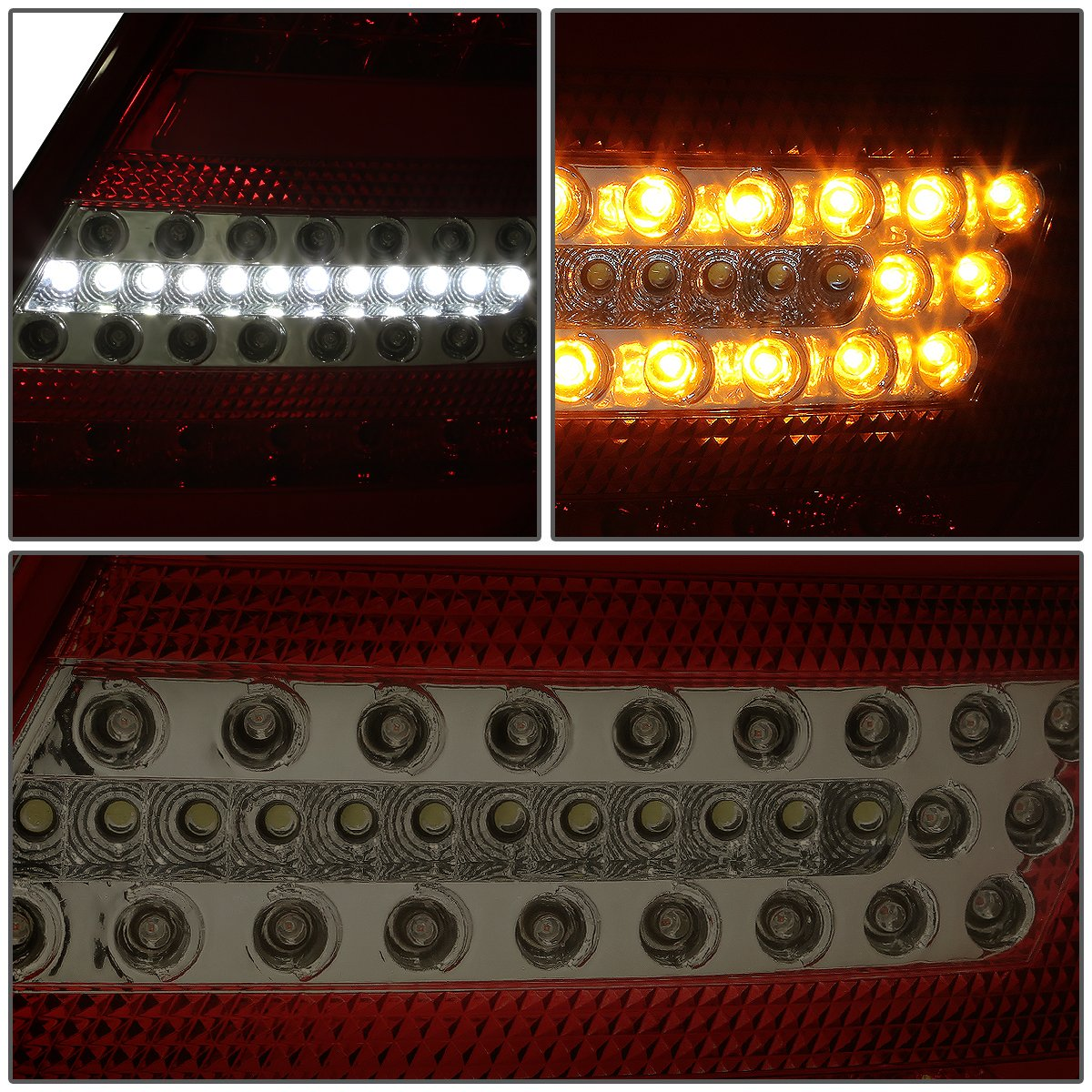 DNA Motoring TL-LED-3D-W20407-RD-SM 3D LED Tail Light Driver /& Passenger Side