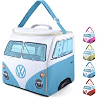 Volkswagen Large Soft Sided Cooler Bag, Collapsible Insulated Picnic Lunch Bag with Adjustable Strap (27 Liter), VW Bus Accessories