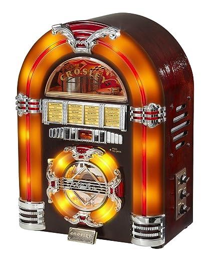 Amazon.com: Crosley CR11CD Jukebox CD Player with Authentic Neon