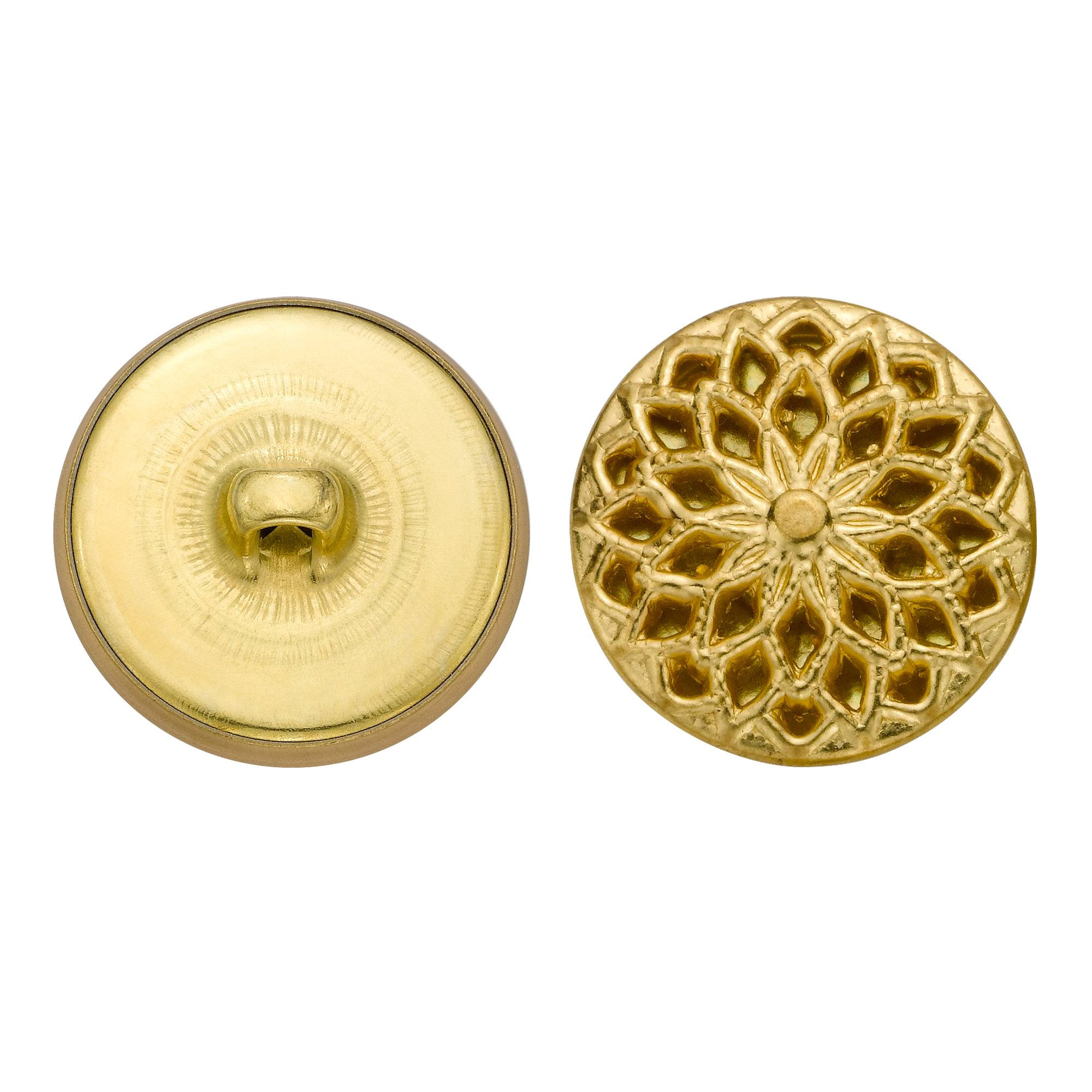 C&C Metal Products 5353 Filigree Metal Button, Size 36 Ligne, Gold, 36-Pack