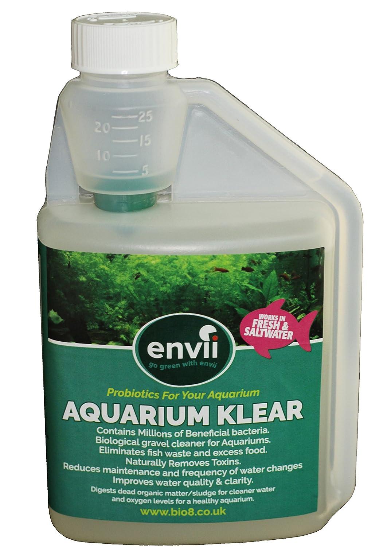 Envii Aquarium Klear - Traitement Bactériologique Anti-Algue Pour Aquarium Qui Nettoie L'eau et Les Graviers et Fait Disparaître Les Algues Vertes - 500ml Bio8