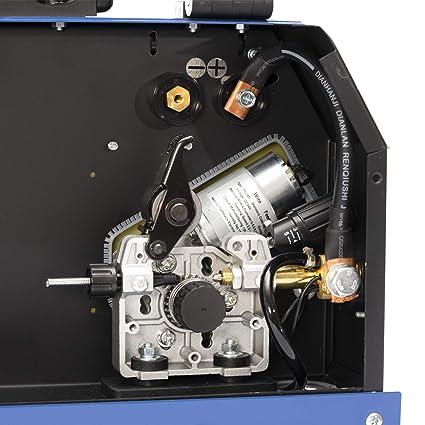 Maquina de soldar inverter IPOTOOLS MIG 250 | Soldador Inverter Profesional | Soldador de hilo continuo sin gas | Unidad de soldadura MIG MAG Blindaje Gas + ...