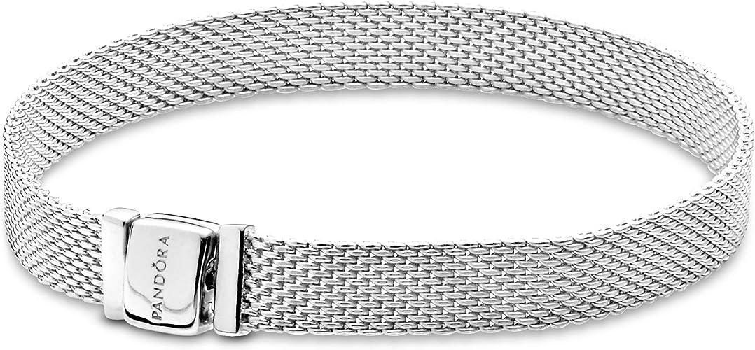 Pandora Jewelry Reflexions Mesh Bracelet, Size 6.7