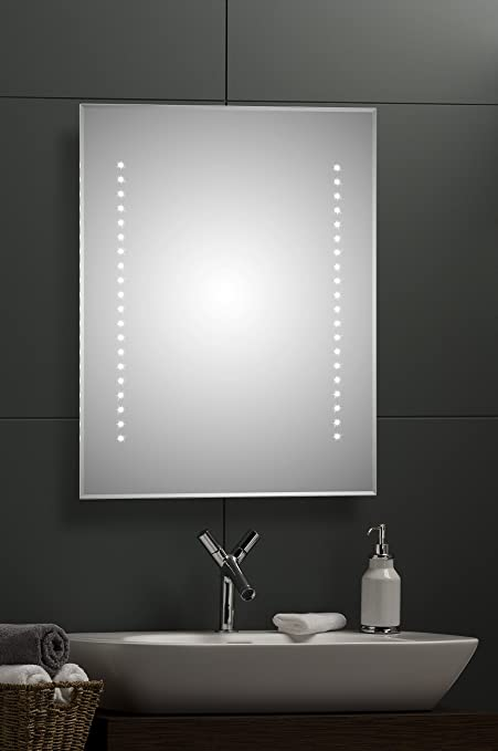 Illuminated bathroom wall mirror with cool white led lights illuminated bathroom wall mirror with cool white led lights demister pad sensor switch for aloadofball Images