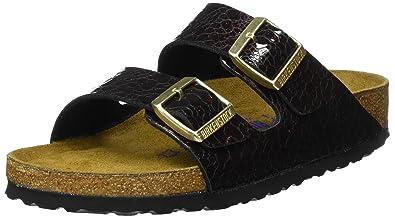 Chaussures à bout ouvert Birkenstock Arizona noires femme iisjjOd1Xs