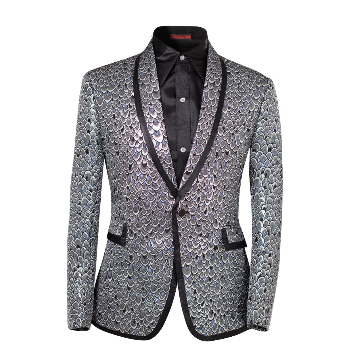 Cloudstyle Men's 2 Piece Suit Single Breasted One-Button Shawl Collar Tuxedo Pants Set WT0024