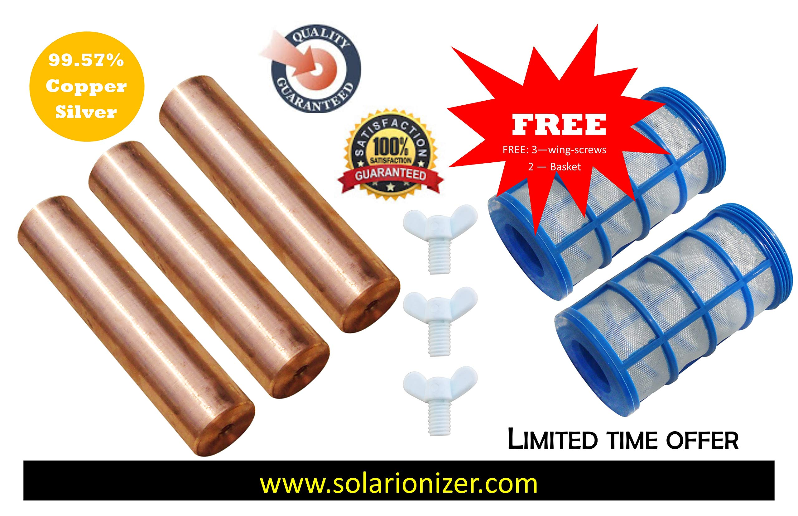 Replacement Remington Solar | Human Creations | Mananasun Compatible Anode (99.57% Copper-Silver) | 3-Pack - www.solarionizer.com by Solar Ionizer