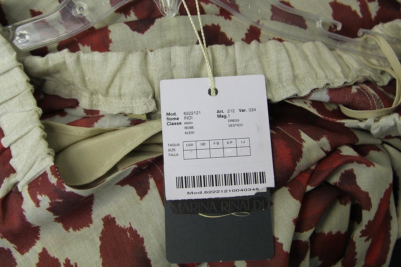 Marina Rinaldi by MaxMara Indi Red/Ivory Animal Print V-Neck Dress 10W/19 at Amazon Womens Clothing store: