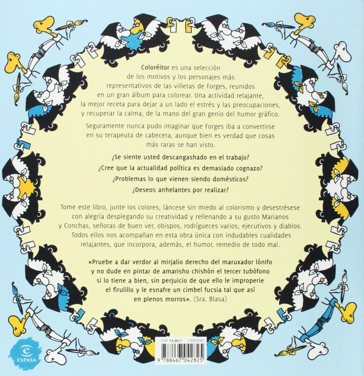 Coloréitor. El libro antiestrés de Forges: El libro antiestrés de ...