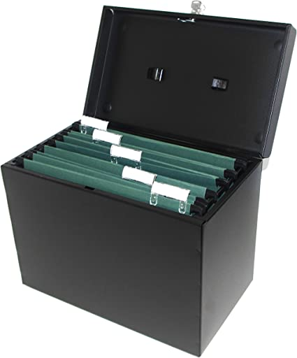 Range Documents En Metal Format A4 5 Dossiers Suspendus Format A4 Intercalaires Et Etiquettes Noir Amazon Fr Fournitures De Bureau