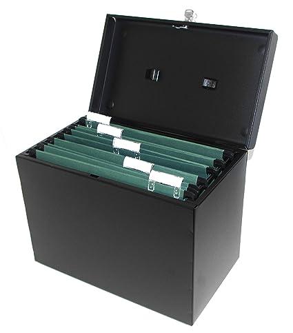 Range Documents En Métal Format A4 5 Dossiers Suspendus Format A4 Intercalaires Et étiquettes Noir