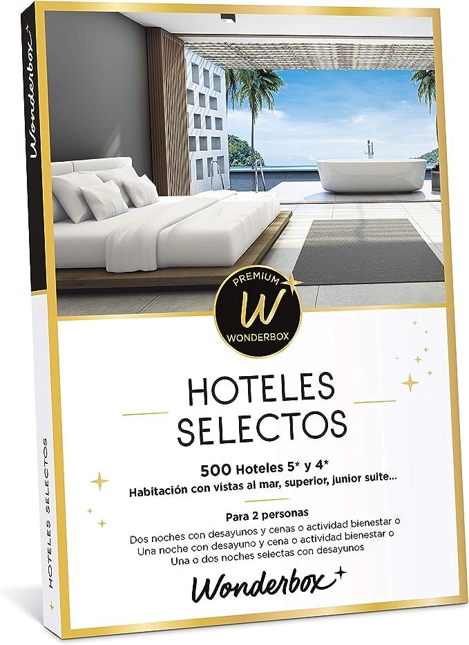WONDERBOX Caja Regalo - HOTELES SELECTOS - una Noche con Desayuno y Cena o Actividad Bienestar o más Opciones a Elegir Entre 255 hoteles de 4* y 5* para Dos Personas.: Amazon.es: Jardín