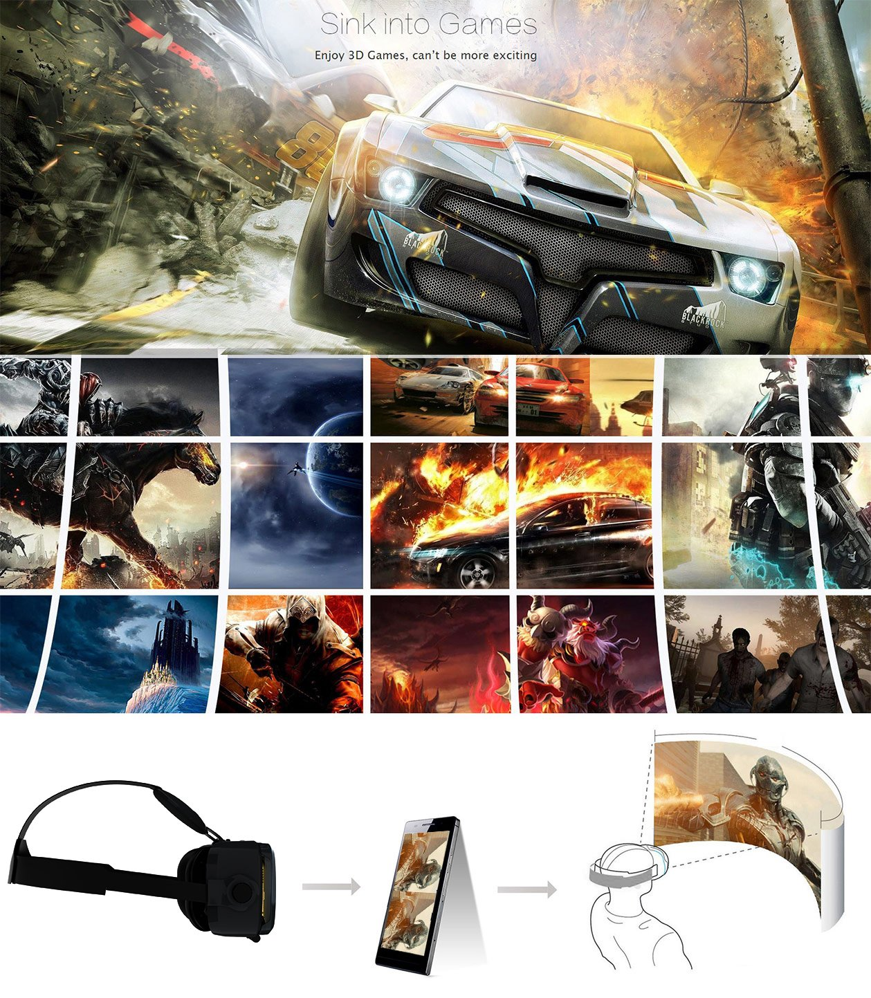 Joystick for Android Smartphones Gamepad Tablets Hi-Shock/® Bluetooth Game Controller Rechargeable | Android | Black