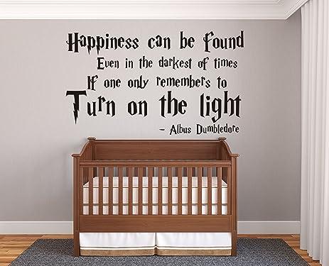 Harry Potter Quote Albus Dumbledore Phrase Happiness Decor Nursery Living  Room Bedroom Wall Decal Sticker Vinyl
