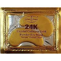 100 Crystal 24K Gold Powder Gel Collagen Eyes Masks Sheet Patch Anti Ageing Remove...
