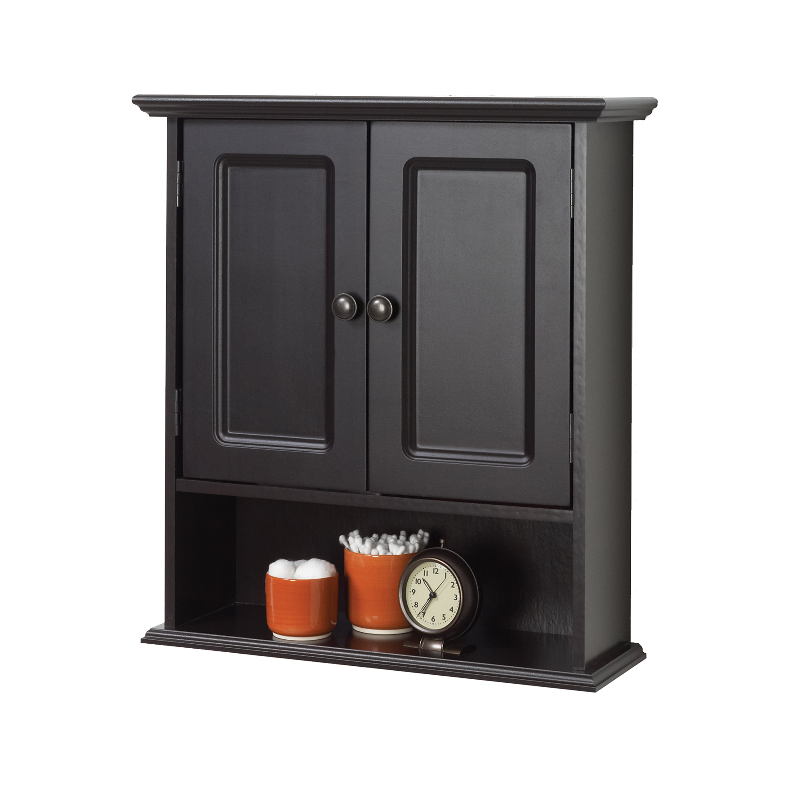 Zenna Home 9918CHA, Collette Wall Cabinet, Espresso by Zenna Home (Image #2)