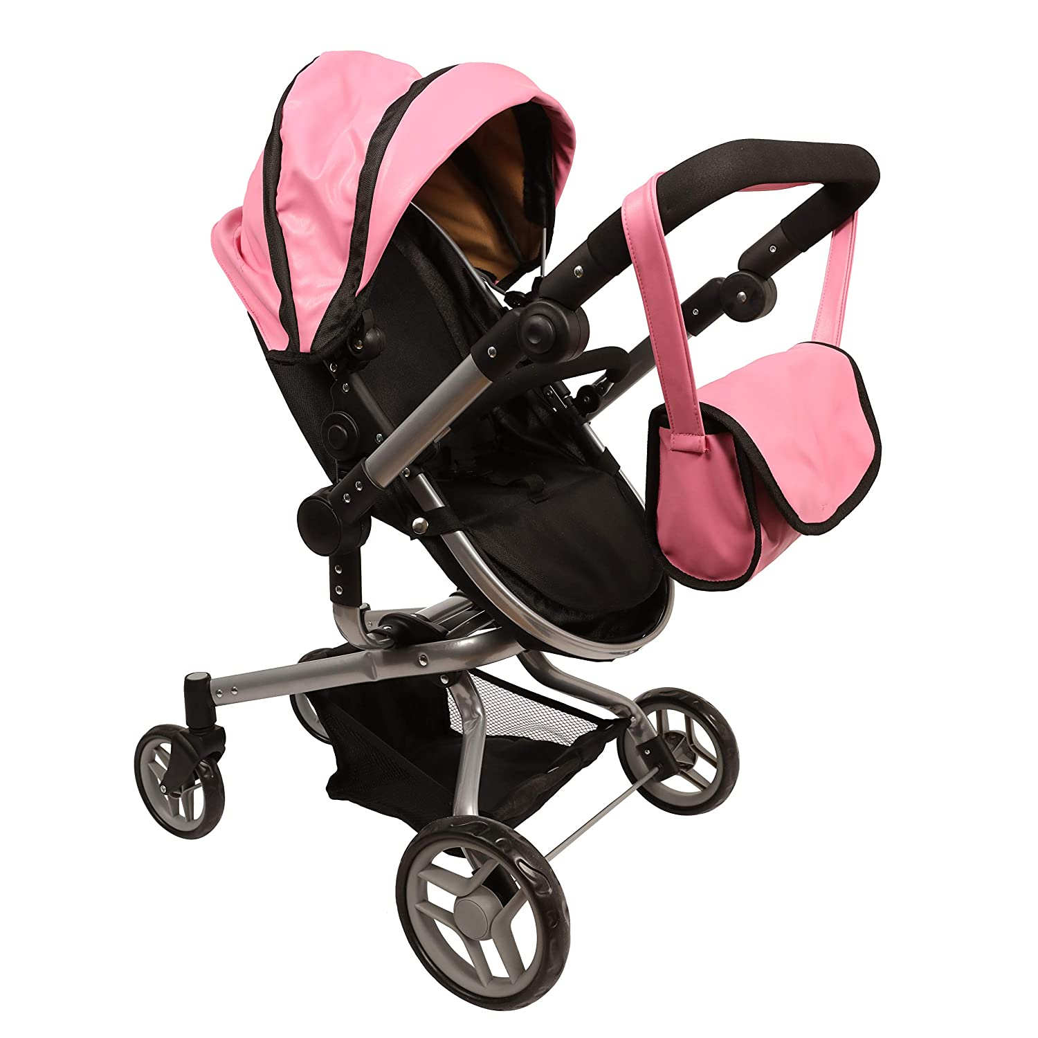 9695 Mommy /& me 2 in 1 Deluxe Leather Doll Stroller Extra Tall 32 HIGH View All Photos