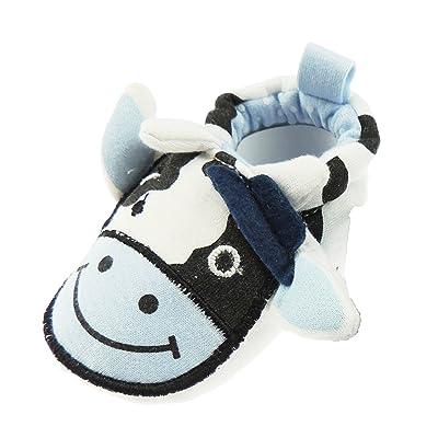 Moo Cow-Bébé Fille Garçon Soled à chaussons antidérapant doux