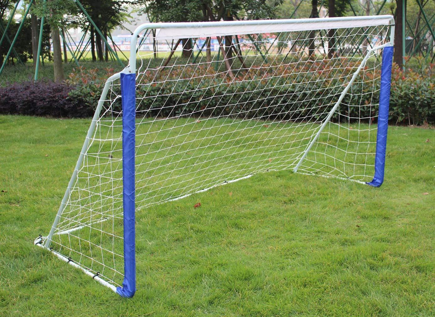 KLB Sport 8' x 5' Steel Soccer Goal - Portable Soccer Net with Carry Bag