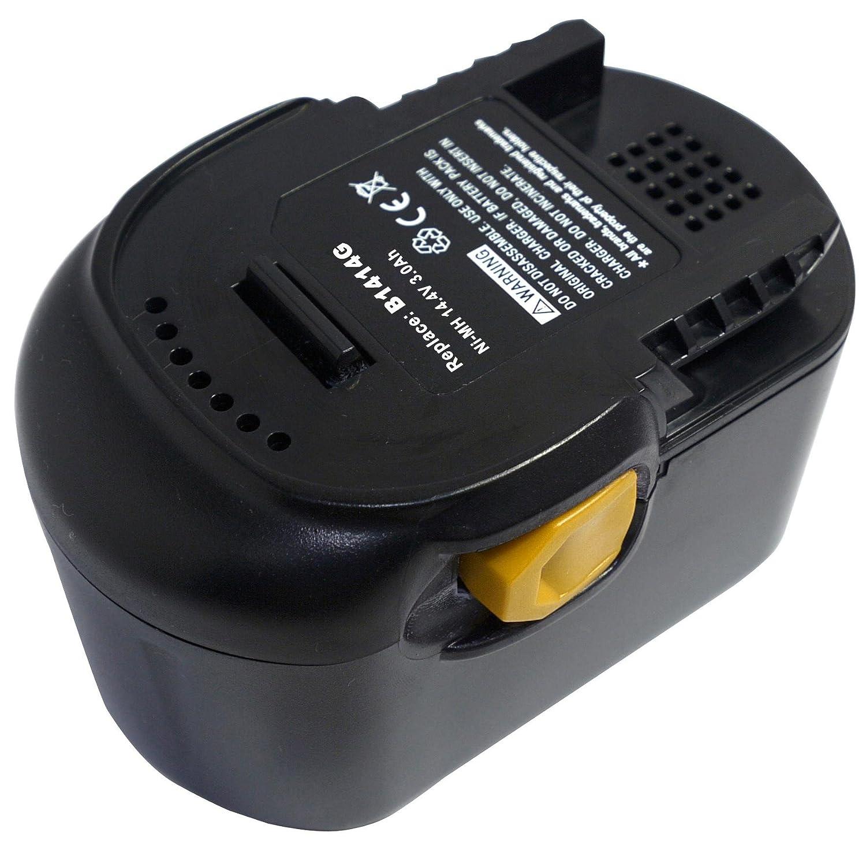 B 1430 R L1414R B1430R PowerSmart/® 14.4V Ni-MH 3000mAh Batterie pour AEG BS 14 G L1430L L 1430 L L1 414 R B1414G BSB 14 G