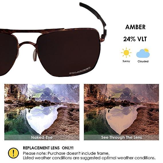 c98f7416b4 Amazon.com  BlazerBuck Anti-salt Polarized Replacement Lenses for Oakley  Deviation - Amber  Clothing
