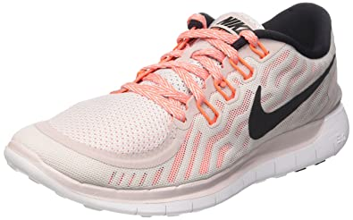 los angeles 843d9 efc8f NIKE Women s WMNS Free 5.0, Violet ASH Black-White-Hyper Orange,