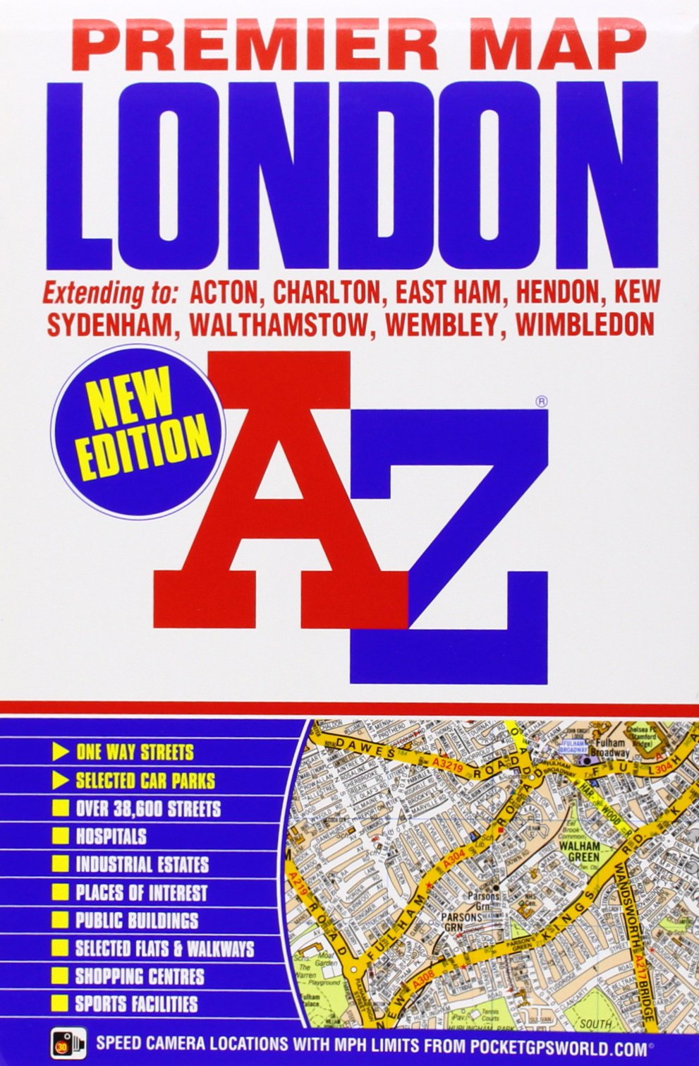 Az Street Map Of London.London Premier Map A Z Premier Street Maps Amazon Co Uk