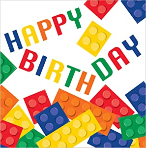 Creative Converting 16-Count 3-Ply Lunch Napkins with Happy Birthday