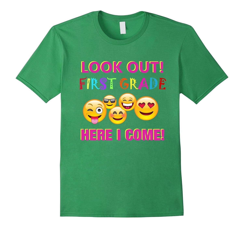 1st Grade Emoji Back to School T-Shirt for Girls & Boys-TH