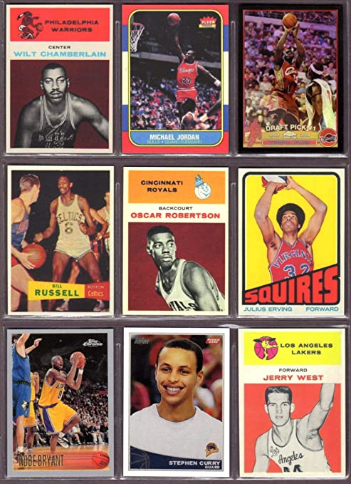 Ultimate Basketball Rookie Reprint 9 Card Lot 1 Featuring