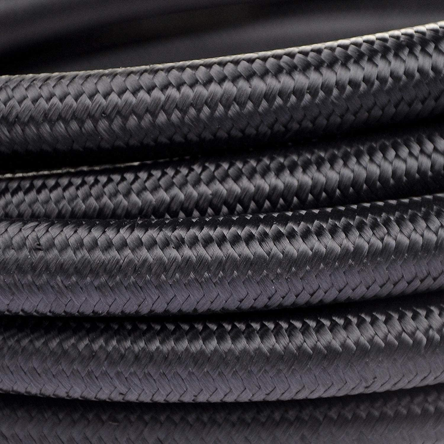 TBS10 Nylon Braided Fuel Line Hose Stainless Steel Braided Fuel Oil Line Hose theBlueStone Black 10FT 10AN for 5//8 Tube Size