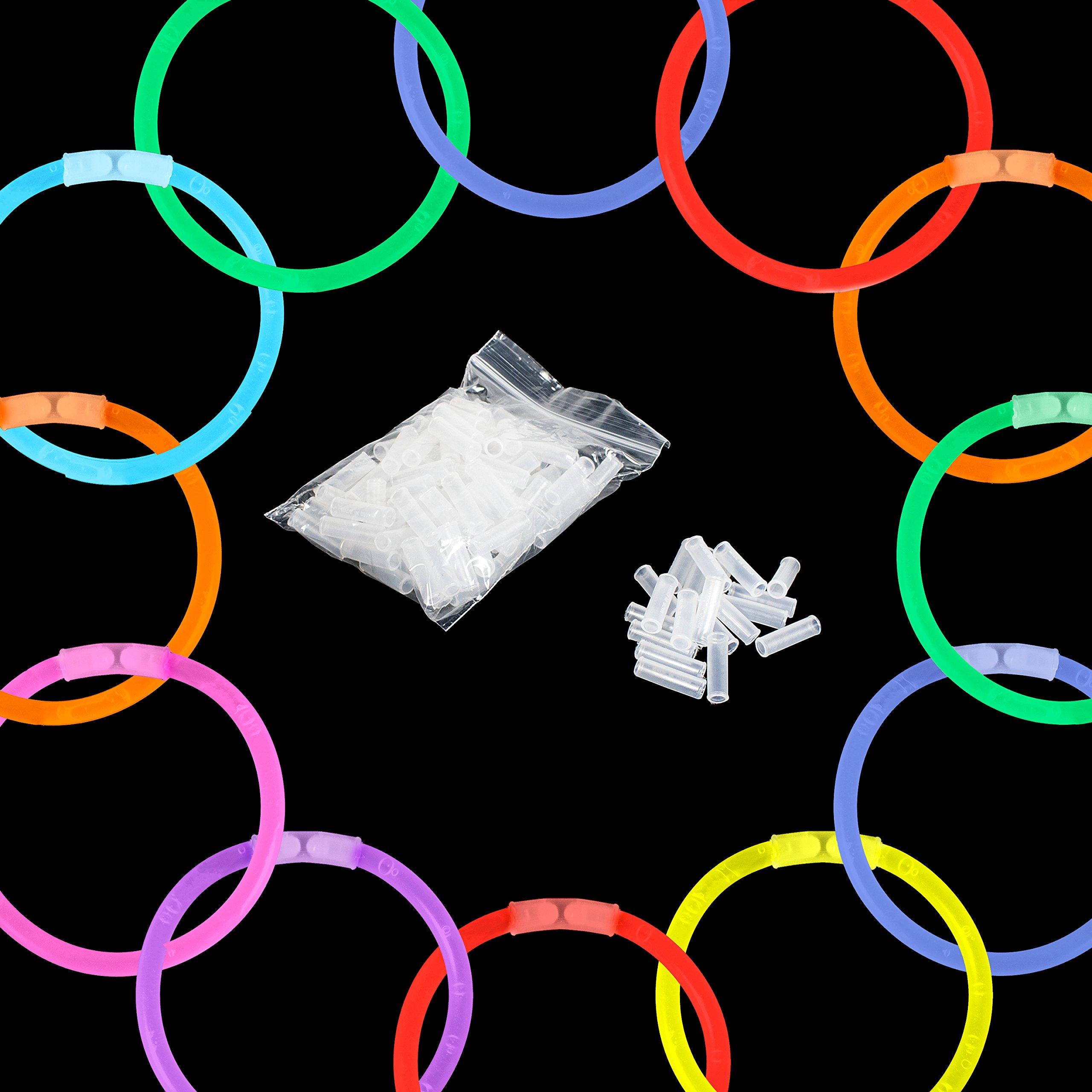 Lumistick Glow Sticks Variety Pack of Glowing Party Favors Includes Necklaces, Bracelets and Glasses (Assorted, 200 Packs) by Lumistick (Image #7)