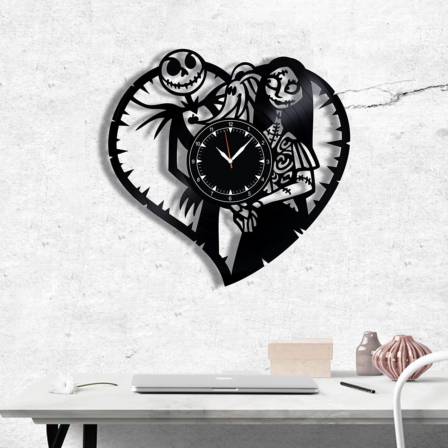 SofiClock Nightmare Before Christmas Vinyl Record Wall Clock 12 , The Best Gift for Decor B B