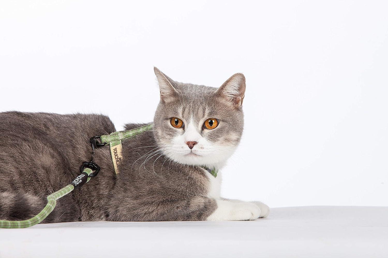 touchdog TOUCHCAT de Malla Suave Ajustable Arn/és y Correa para Gato Ideal para Caminar con Gatitos a Prueba de Escapes