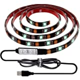 ALOTOA Éclairage de Bias pour la TVHD 150cm 5v USB Powered étanche LED Light Strip, Multi Color RGB LED TV Back Lighting for Flat Screen HDTV LCD Desktop PC Monitor, Outdoor