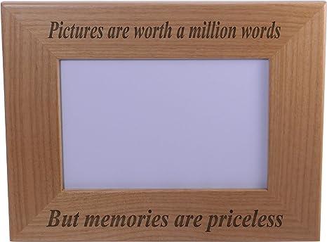 Amazon.com: Recuerdos son Precio – Marco de madera para ...