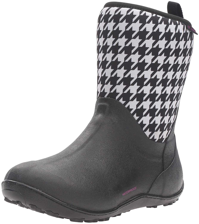 Columbia Women's Snowpow Mid Print Omni-Heat Snow Boot B0183QCHUI 5 B(M) US|Black/Intense Violet