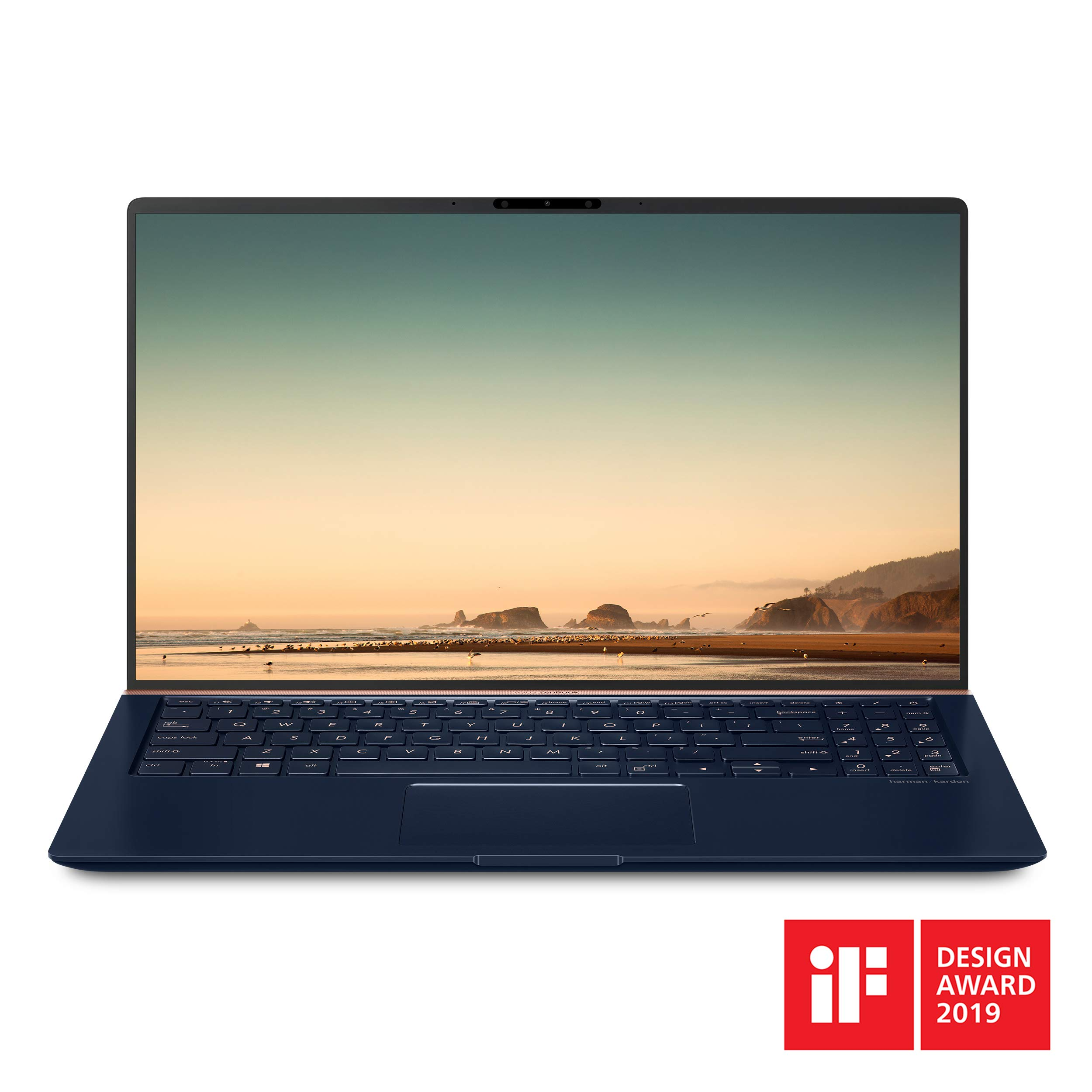 Asus ZenBook 15 Ultra Slim Compact Laptop 15.6'' FHD 4-Way NanoEdge, Intel Core i7-8565U Processor, 16GB DDR4, 512GB PCIe SSD, GeForce GTX 1050, Ir Camera, Windows 10, UX533FD-DH74, Royal Blue by ASUS