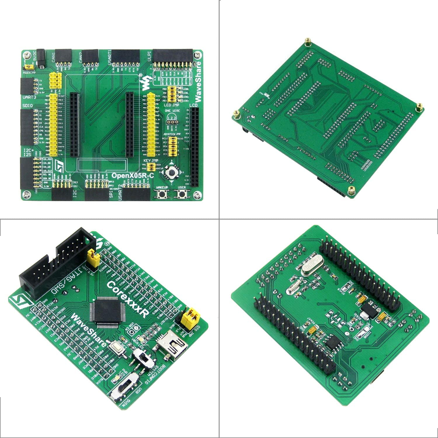 pzsmocn STM32F405Rgt6 MCU Stm32 Development Board Open405R-C,Core Board Core407R,Rich Interface,Supports Access to Various Peripheral Modules.